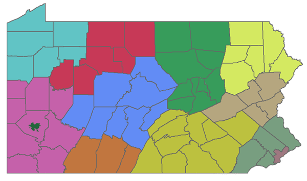 PIAA District Map
